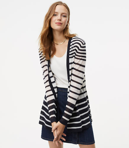 Image of Horizon Striped Open Cardigan