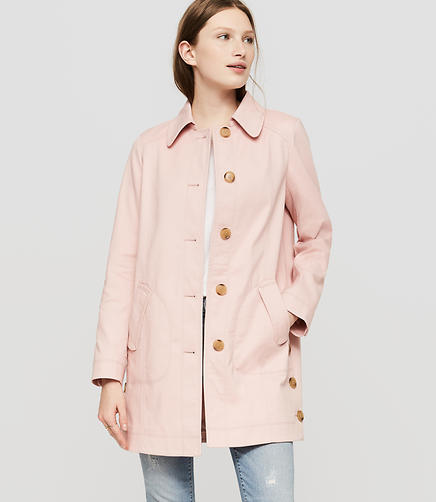 Image of Petite Side Button Coat