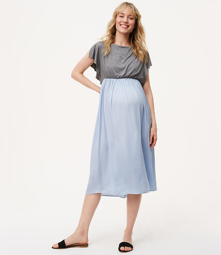 Maternity Flutter Duet Dress