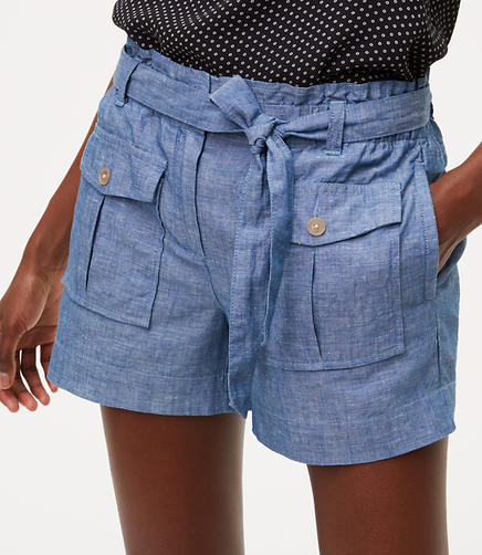 Image of Chambray Safari Shorts