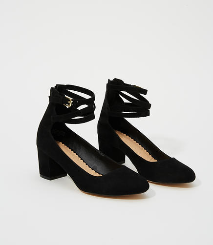 Image of Ankle Strap Block Heels