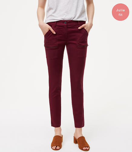 Image of Zip Skinny Utility Pants in Julie Fit
