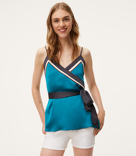 Image of Petite Borderline Wrap Cami