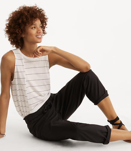 Image of Petite Lou & Grey Wide Leg Poplin Pants