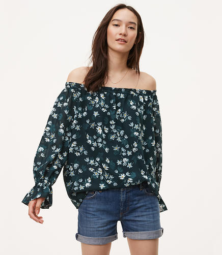 Image of Fleur Ruffle Cuff Off The Shoulder Blouse