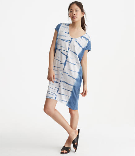 Sundry Tie Dye Tunic Pocket Dress
