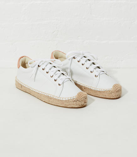 Image of Soludos Leather Platform Tennis Sneakerdrille
