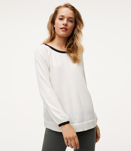 Image of Tipped Puff Cuff Sweater