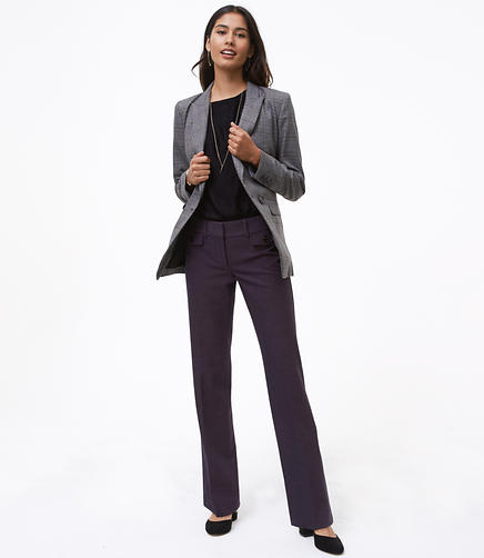 Trousers in Button Pocket Tweed in Marisa Fit