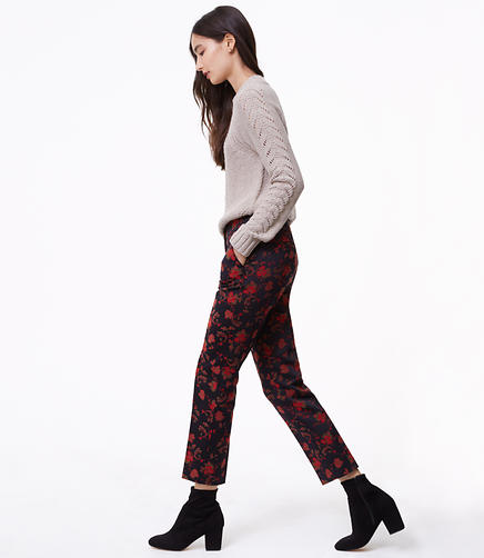 Slim Fall Floral Pants in Marisa Fit