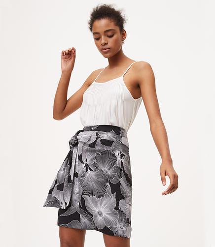 Image of Petite Hibiscus Tie Skirt