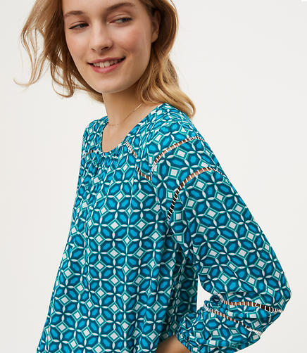 Image of Tiled Cutout Blouse