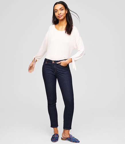 Image of Petite Curvy Skinny Jeans in Dark Rinse Wash