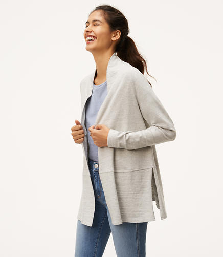 Image of Petite Textured Open Cardigan