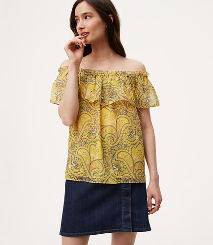 Image of Sun Garden Off The Shoulder Top