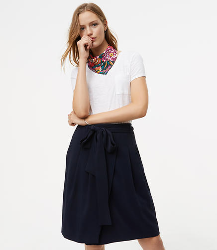 Image of Tie Waist Wrap Skirt