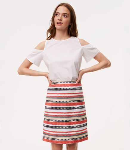 Image of Petite Costa Jacquard Shift Skirt