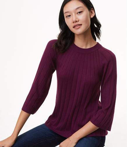 Ribbed Swing Sweater