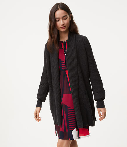 Image of Pointelle Open Cardigan