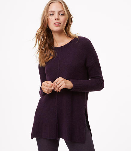 Seamed Tunic Sweater