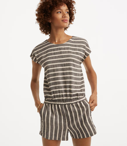 Image of Lou & Grey Striped Tie Back Romper