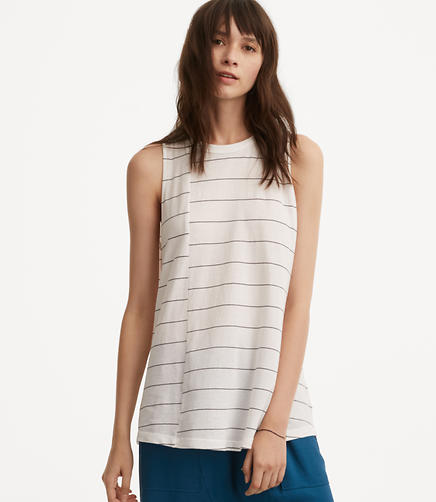 Image of Lou & Grey Striped Softserve Cotton Keyhole Tank