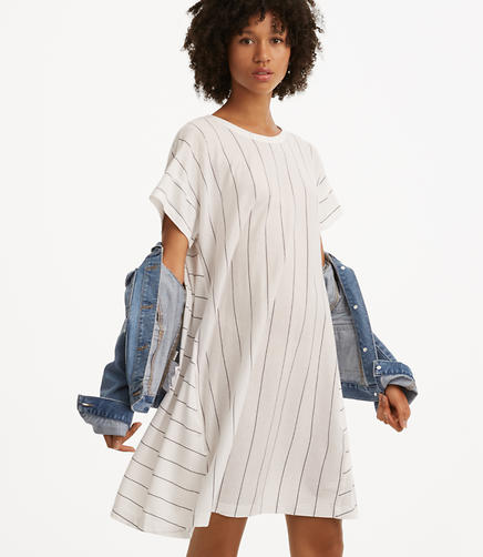 Lou & Grey Striped Softserve Cotton Tee Dress