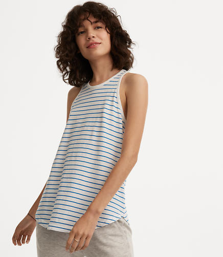 Image of Lou & Grey Striped Softserve Cotton Racerback Tank