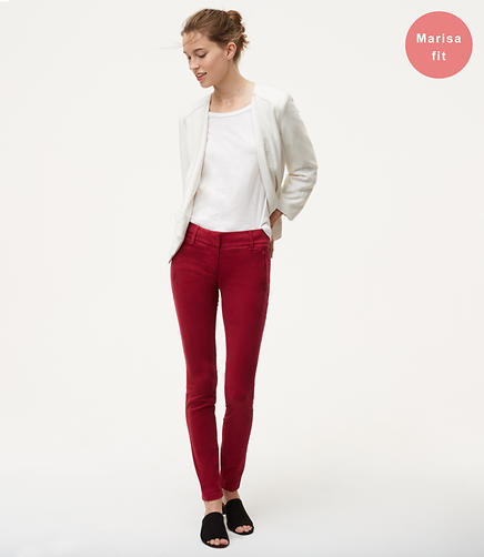 Skinny Sanded Sateen Chinos in Marisa Fit