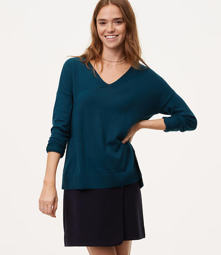 Tie Back Double V Sweater