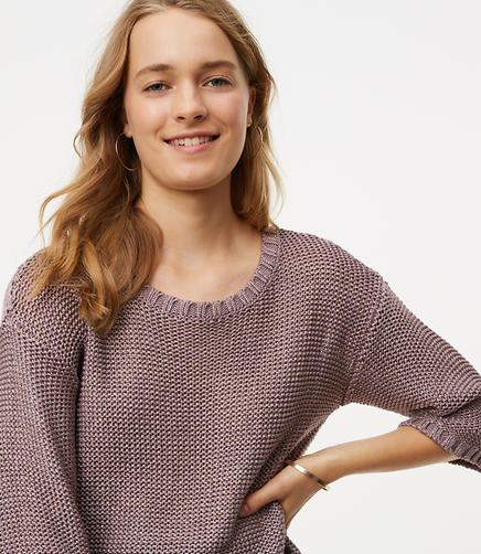 Image of Petite Relaxed Shirttail Sweater
