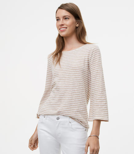 Image of Petite Shimmer Stripe Tee