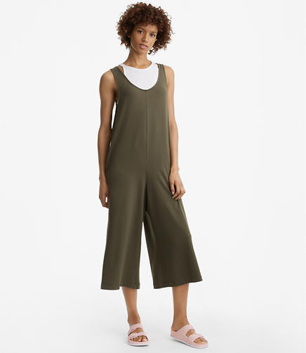 Image of Petite Sueded Jersey Jumpsuit