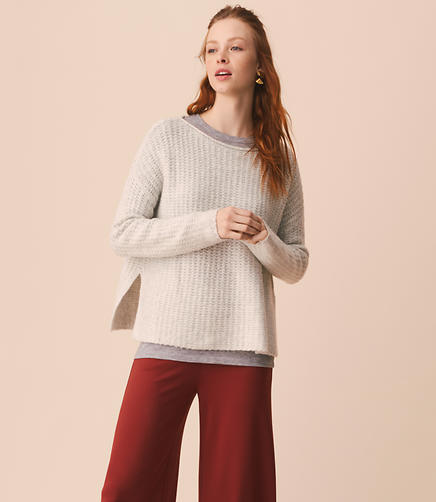 Lou & Grey Washed Boucle Sweater