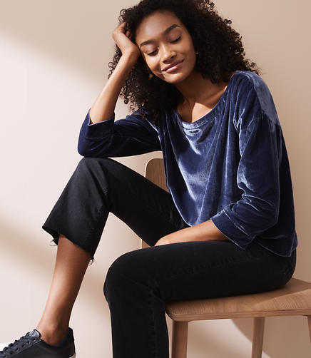 Lou & Grey Relaxed Velvet Top