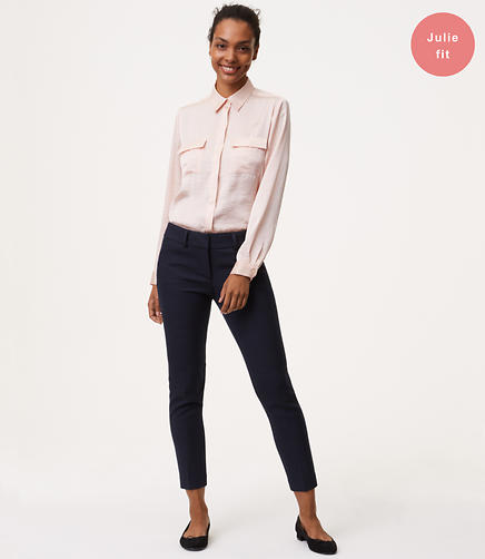 Skinny Micro Plaid Ankle Pants in Julie Fit