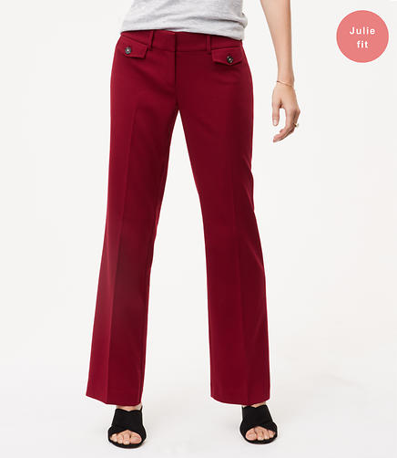 Trousers with Button Pockets in Julie Fit