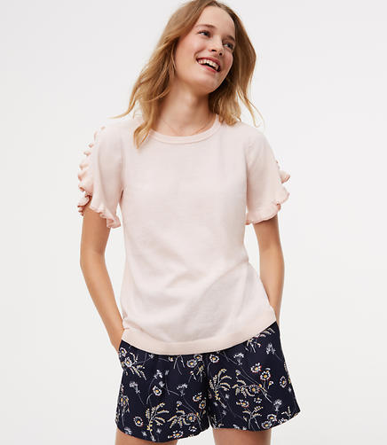 Image of Shimmer Ruffle Sweater Tee