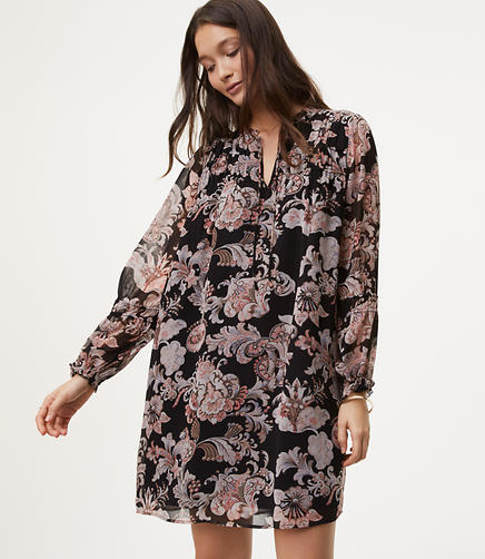 Royal Floral Shirtdress