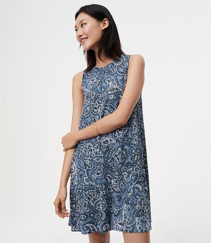 Image of Tall Paisley Swing Dress