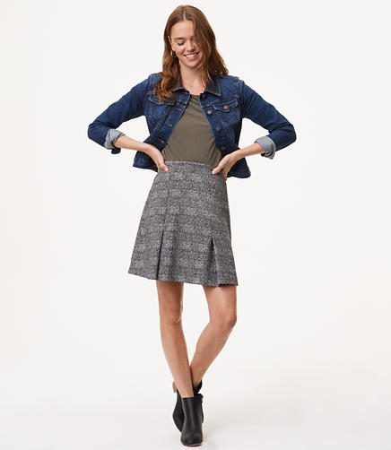 Plaid Pull On Skirt