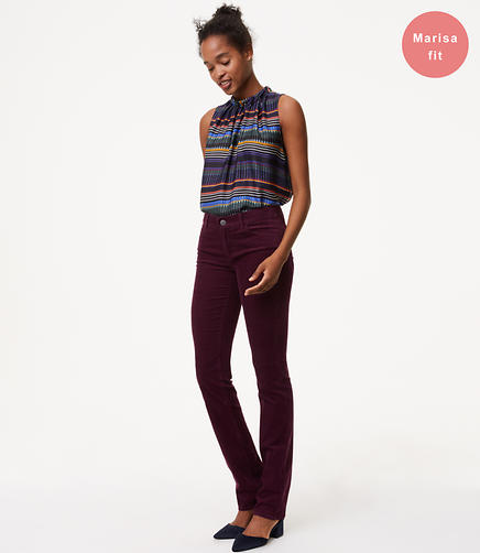 Image of Straight Leg Corduroy Pants in Modern
