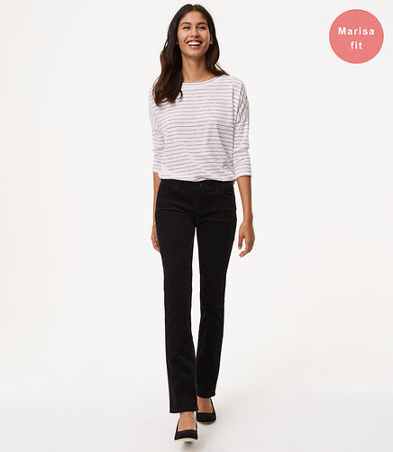 Petite Straight Leg Corduroy Pants in Modern