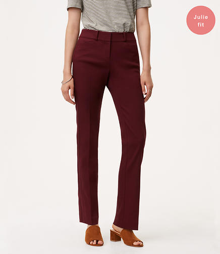 Straight Leg Textured Pants in Julie Fit