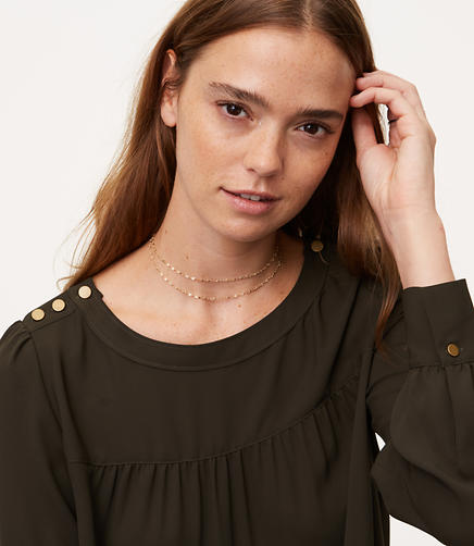 Shoulder Button Blouse
