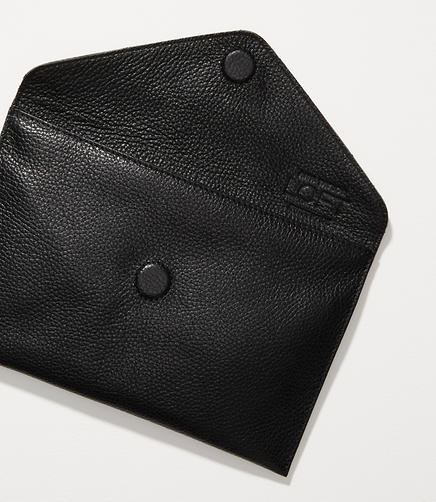 Image of Luxe Leather Envelope Clutch
