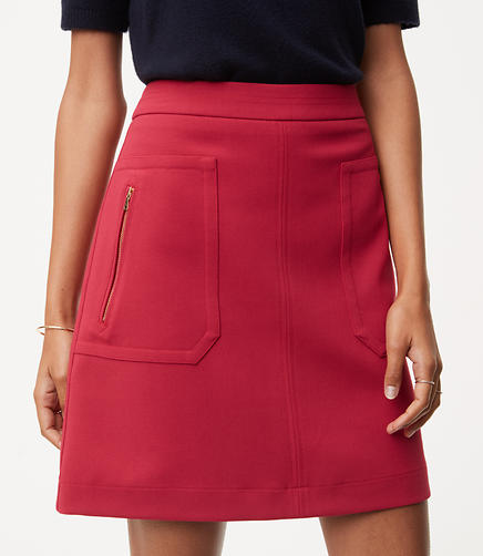 Petite Zip Pocket Skirt