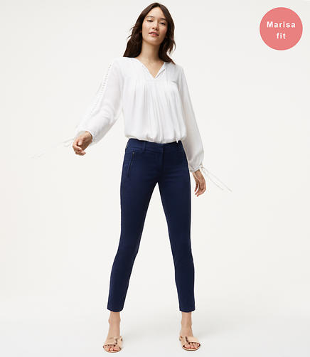 Image of Petite Skinny Sanded Sateen Chinos in Marisa Fit