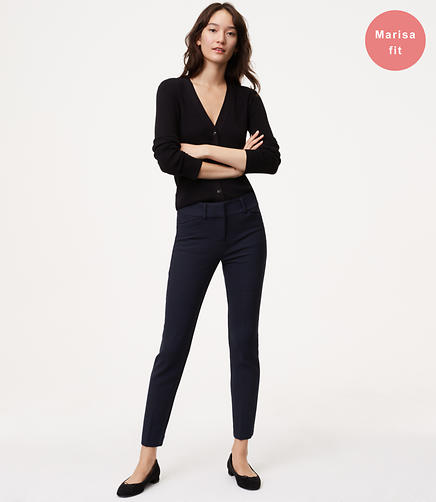 Skinny Micro Plaid Ankle Pants in Marisa Fit