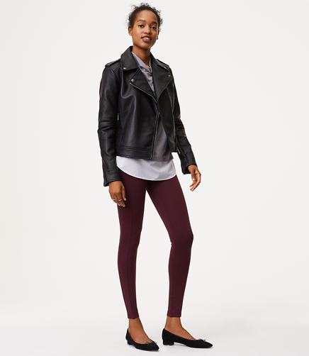 Leggings in Seamed Ponte